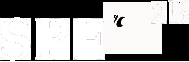 logo de spe2b Texte blanc et fond transparent